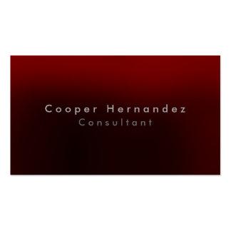 Simple Plain Elegant Brownish Red Minimalist Business Card
