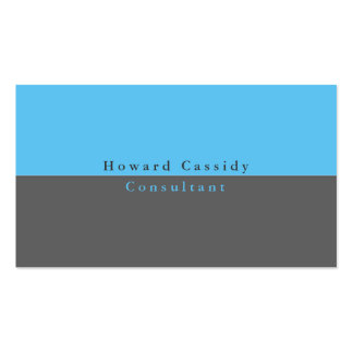 Simple Plain Elegant Grey Blue Minimalist Modern Business Card