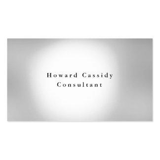 Simple Plain Elegant Grey White Minimalist Modern Business Card