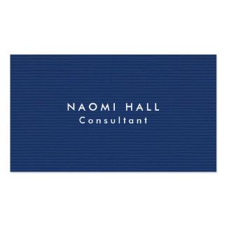 Simple Plain Elegant Modern Blue Minimalist Business Card