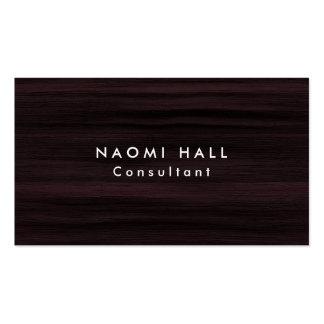 Simple Plain Elegant Modern Brown Wood Minimalist Business Card