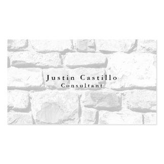 Simple Plain Elegant Wall Stones Modern Business Card