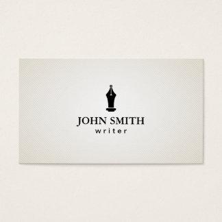 Simple Plain Freelance Writer Business Card
