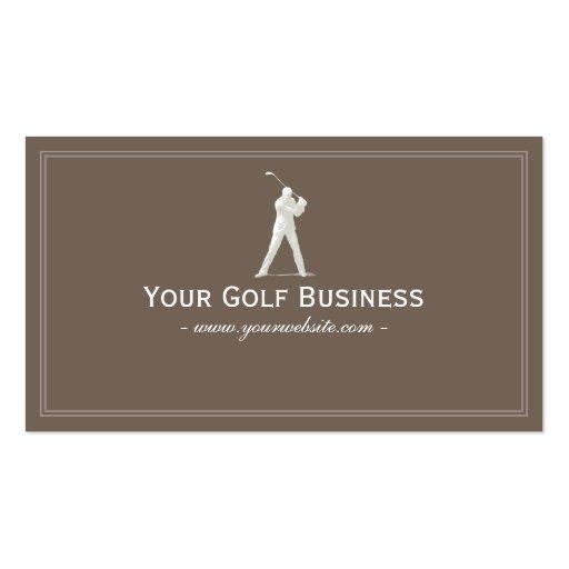Simple Plain Golfer Swing Golf Business Card