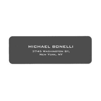 Simple Plain Gray Elegant Return Address Label