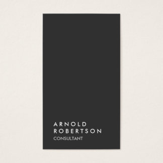 Simple Plain Gray Trendy Consultant Business Card