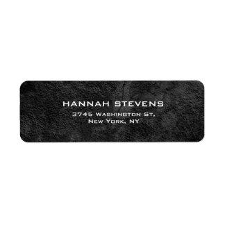Simple Plain Grey Pattern Elegant Modern Label