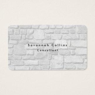 Simple Plain Grey Wall Minimalist Modern Business Card