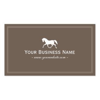 Simple Plain Horse Business Card Brown