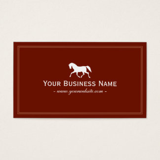 Simple Plain Horse Business Card (Red)
