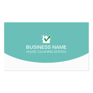 Simple Plain House Cleaning Service Business Card