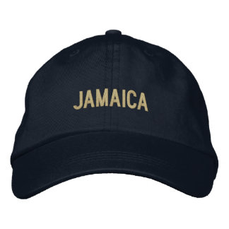 Simple Plain Jamaica Word Custom Color Embroidered Baseball Cap