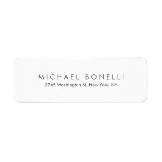 Simple Plain Legible Clean Return Address Label