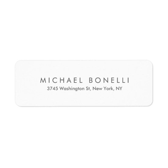 Simple Plain Legible Return Address Label