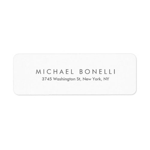 Simple Plain Minimalist Elegant Modern White Label