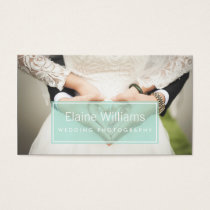 simple plain mint modern photography Business Card