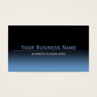 Simple Plain Modern Black & Blue Gradient Business Card