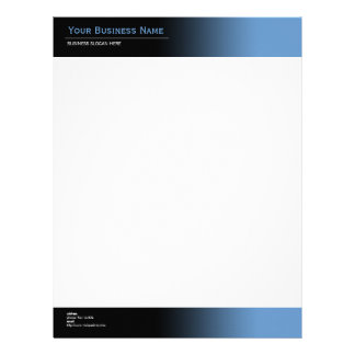 Simple Plain Modern Black & Blue Gradient Letterhead