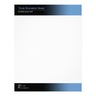 Simple Plain Modern Black & Blue Gradient Letterhead