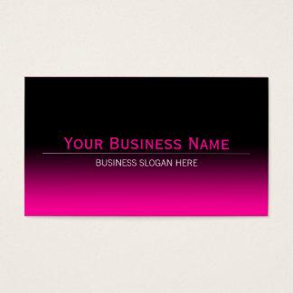 Simple Plain Modern Black & Hot Pink Gradient Business Card