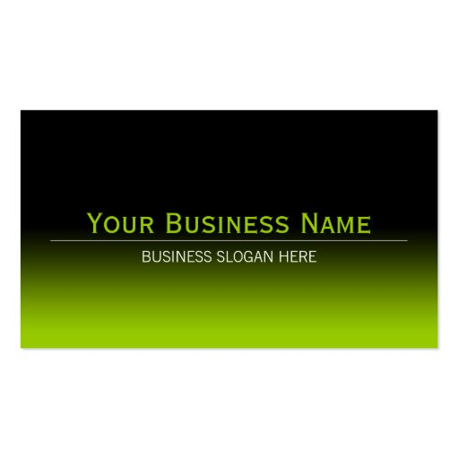 Simple Plain Modern Black & Lime Green Gradient Business Card Template