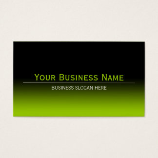 Simple Plain Modern Black & Lime Green Gradient Business Card