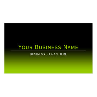 Simple Plain Modern Black & Lime Green Gradient Double-Sided Standard Business Cards (Pack Of 100)