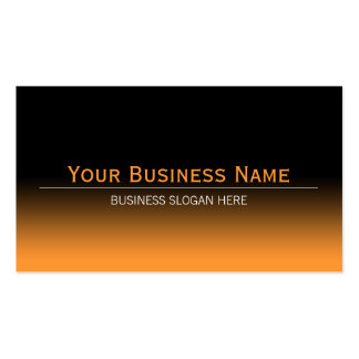Simple Plain Modern Black & Orange Gradient Double-Sided Standard Business Cards (Pack Of 100)