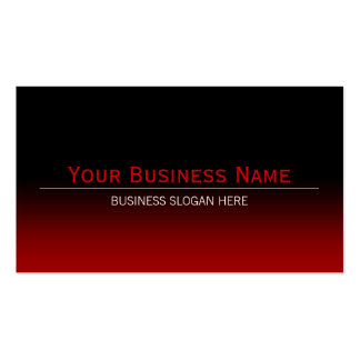 Simple Plain Modern Black & Red Gradient Double-Sided Standard Business Cards (Pack Of 100)