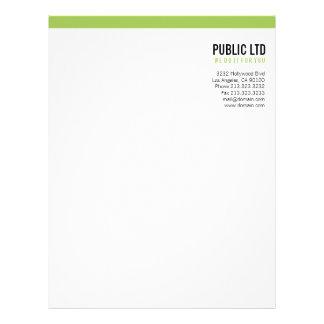 Simple plain modern elegant green letterhead 3