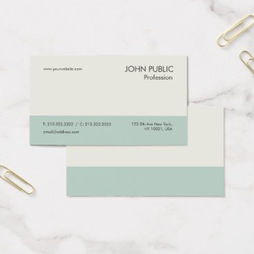 Lawyer Themed Simple Plain Modern Professional Green Beige Chic Business Card