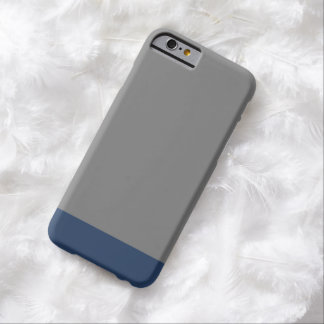 Simple Plain Navy Blue Gray Solid Color Barely There iPhone 6 Case