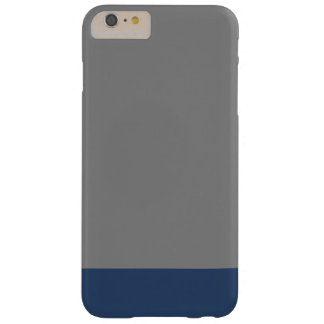 Simple Plain Navy Blue Gray Solid Color Barely There iPhone 6 Plus Case