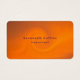 Simple Plain Orange Background Minimalist Modern Business Card