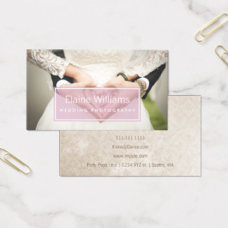 simple plain pink modern photography Business Card