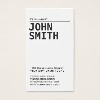 Simple Plain Psychiatrist Business Card