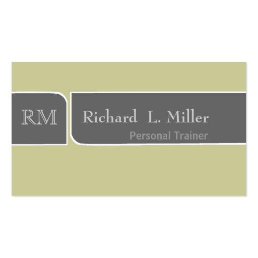 Simple Plain Sage Gray Business Card Template
