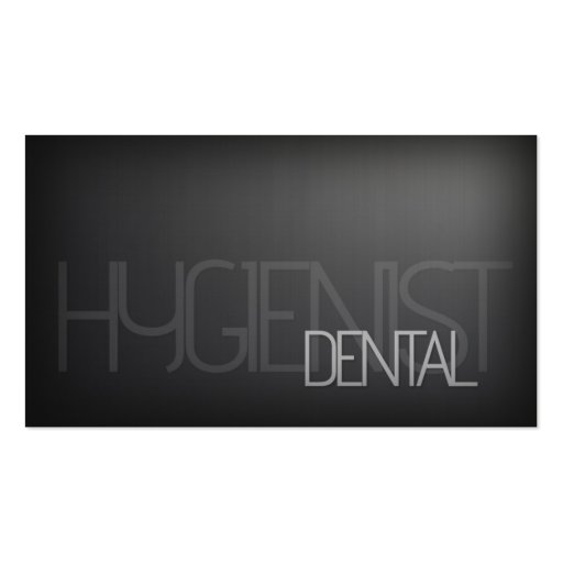Simple Plain Silver Pattern Dental Hygienist Card Double-Sided Standard Business Cards (Pack Of 100)