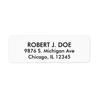 Simple Plain White Return Address Label