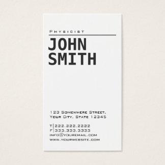 Simple Plain White Physicist Business Card
