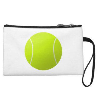 Simple Plain White Tennis Ball Wrist Bag