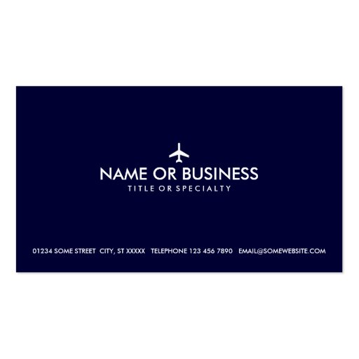 simple plane business card template