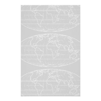 simple planisphere / maps customized stationery