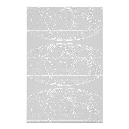 simple planisphere / maps customized stationery