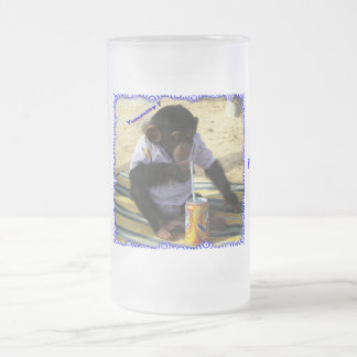 SIMPLE PLASURES ! FROSTED GLASS BEER MUG