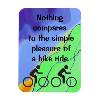 simple pleasure rectangular photo magnet