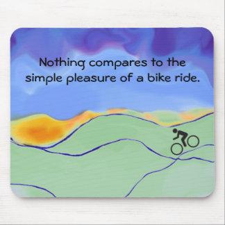 simple pleasures biking mouse pad