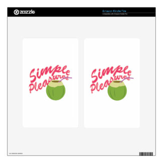 Simple Pleasures Decals For Kindle Fire