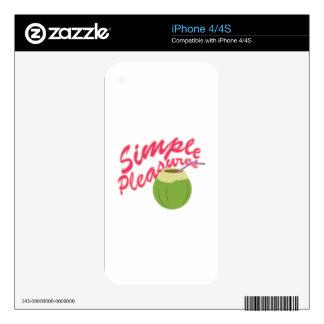 Simple Pleasures iPhone 4 Skin
