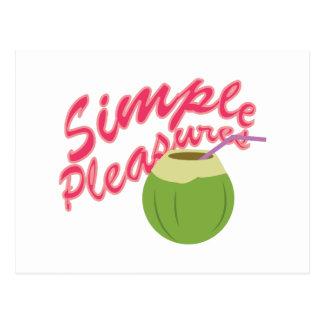 Simple Pleasures Postcard